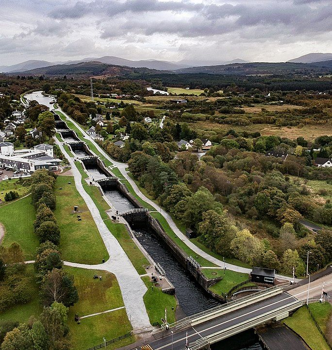 Neptune´s Staircase Caledonian Canal en Fort William